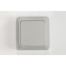 Выключатель открытой проводки 1-клавишный 7021-W Bolleto (белый) с подрозетником