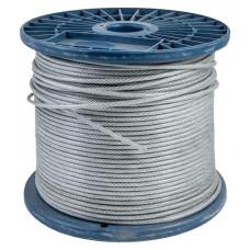 Трос стальной оцинкованный в ПВХ 4/5 100м