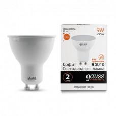 Лампа светодиодная LED Elementary MR16 9W 3000К GU5.3  тёплый  Gauss ,