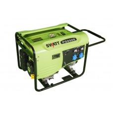 Генератор бензиновый SWATT PG6500 (5,0/5,5 кВт, 220В, бак 25л,  статор медь,+ силовая розетка ) ,