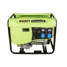 Генератор бензиновый SWATT PG5000 (4,0/4,5 кВт, 220В, бак 25л, медь,с м/часами + силовая розетка)