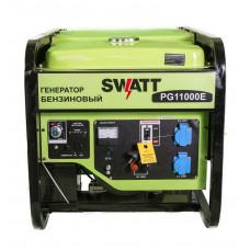 Генератор бензиновый SWATT PG11000E с моточасами (9.5/10.0 кВт, 220В, бак 25л, статор медь)