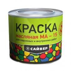 Краска МА-15 белая 2,7кг/Сайвер (1*6)